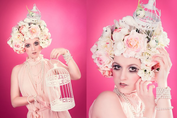 "Headdress ""Vintage Pastel"""