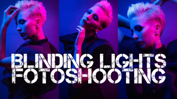 "Fotoshooting ""Blinding Lights"""