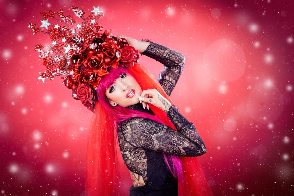 "Headdress ""Red Christmas"""